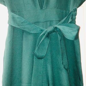 Green with bow pant jumpsuit